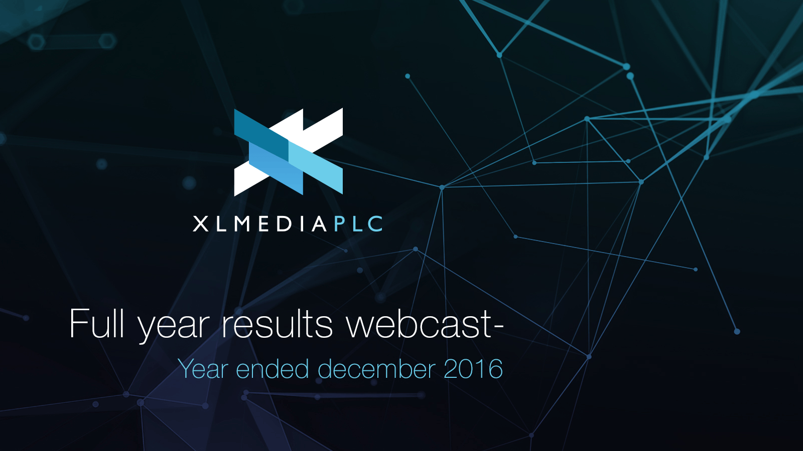 Full year results webcast for 2016